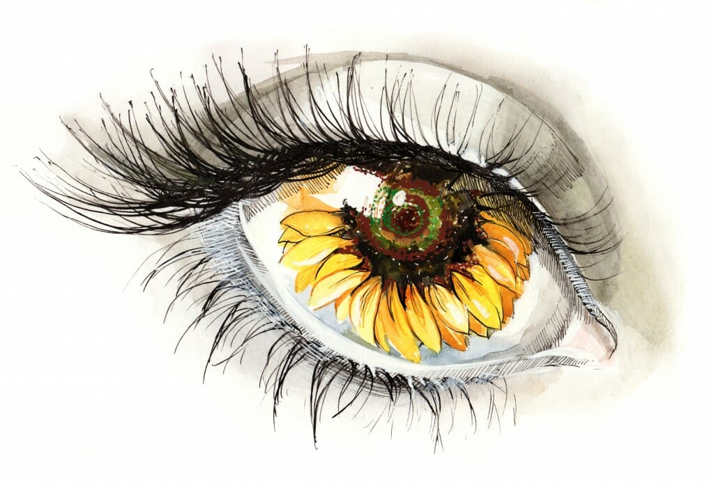 Sunflower Allergy Eye