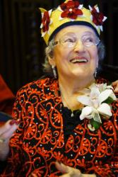 My mother, Lena F, at 100!