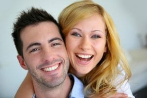 couple happy to be blepharitis free